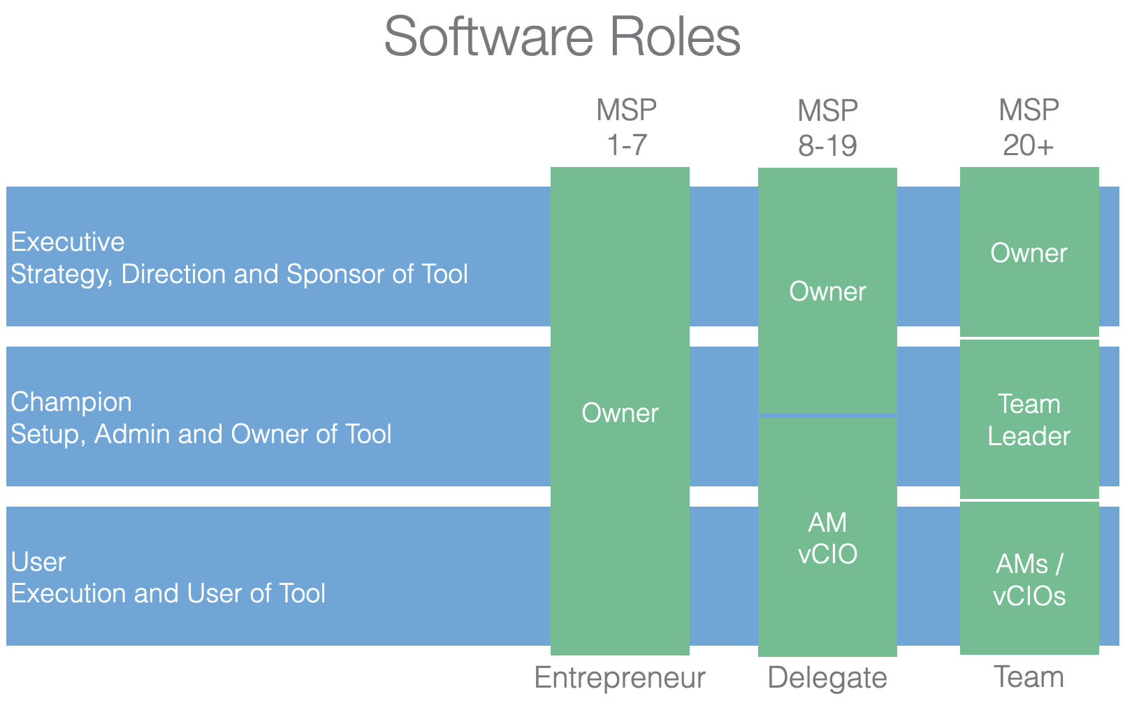 MSP roles in the Managed Services Platform